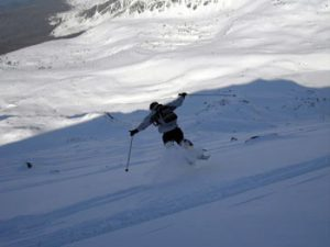 Tearing up the fresh powder at Kasprowy Wierch, Zakopane, Poland